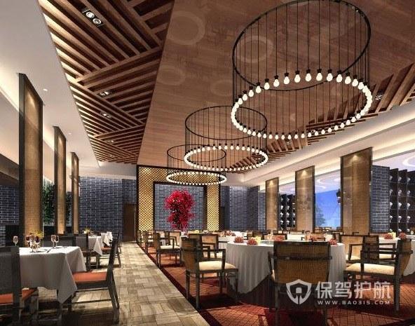 新中式混搭餐厅装修效果图