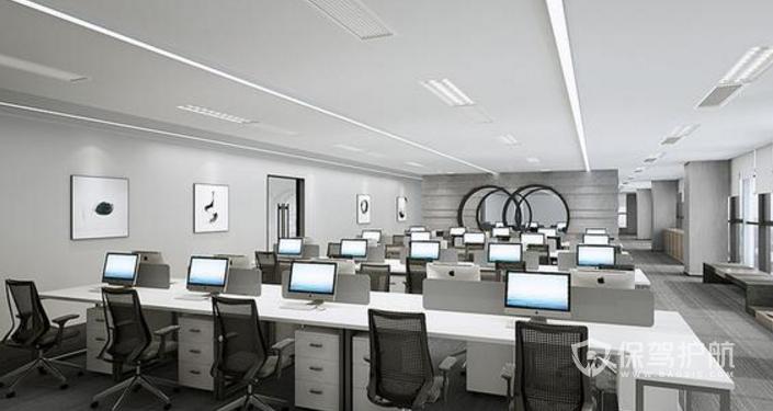 现代欧式办公区装修效果图