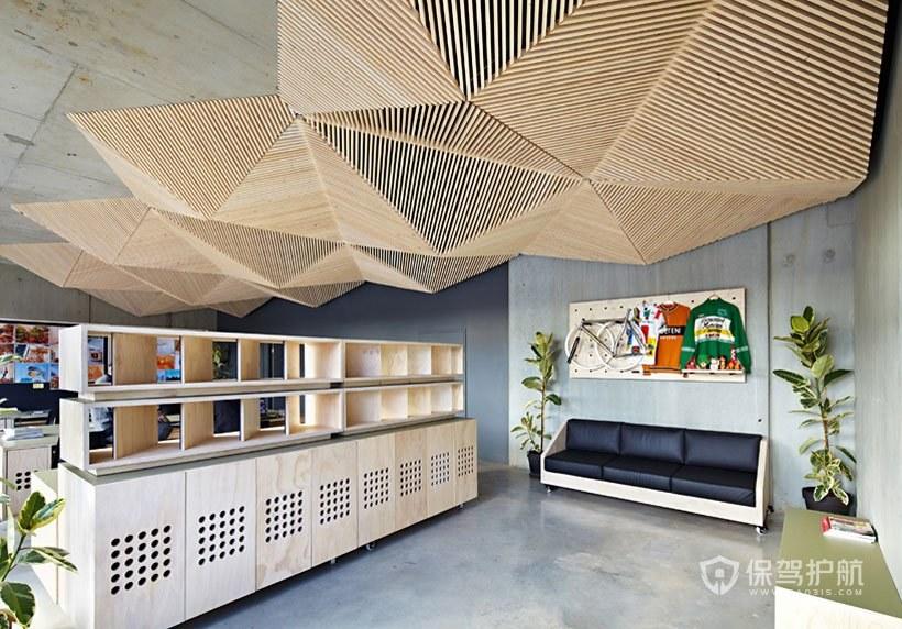 极简主义办公室接待区装修效果图