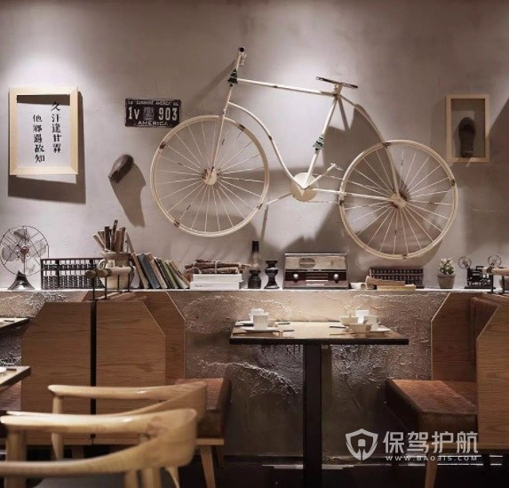 日系工业复古餐厅装修效果图