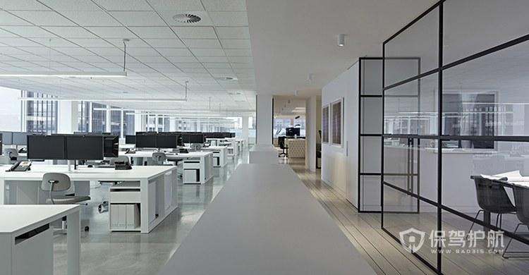 极简主义办公室办公区装修效果图