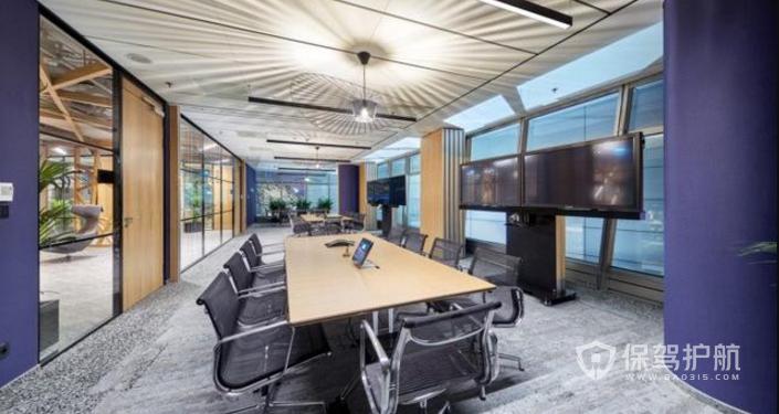 开放式办公室会议室装修效果图