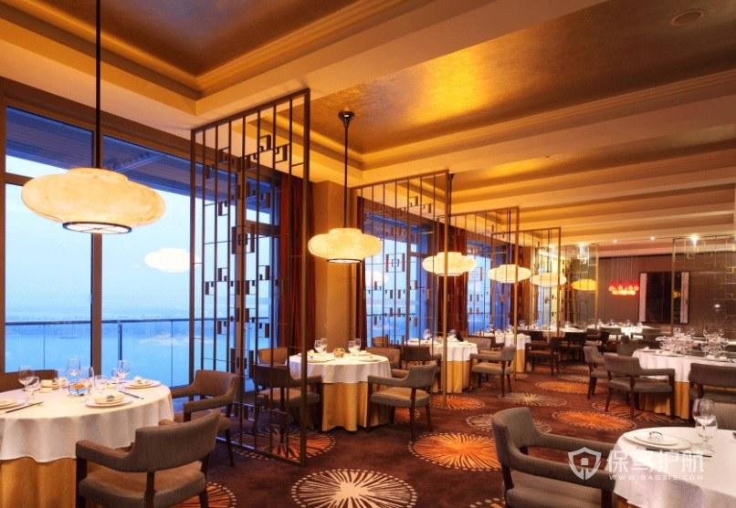 中式典雅轻奢餐厅装修效果图
