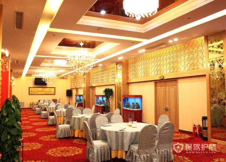 中式宴会餐厅装修效果图