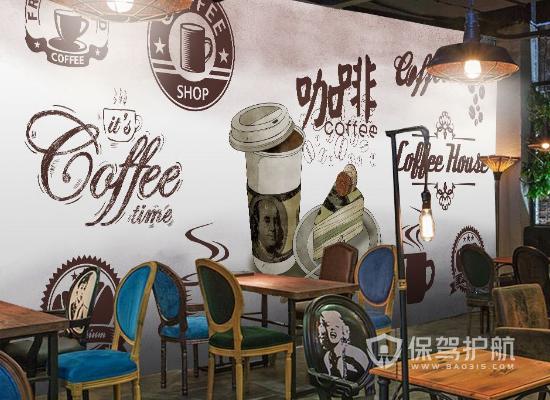 工业风格咖啡店墙面装饰效果图