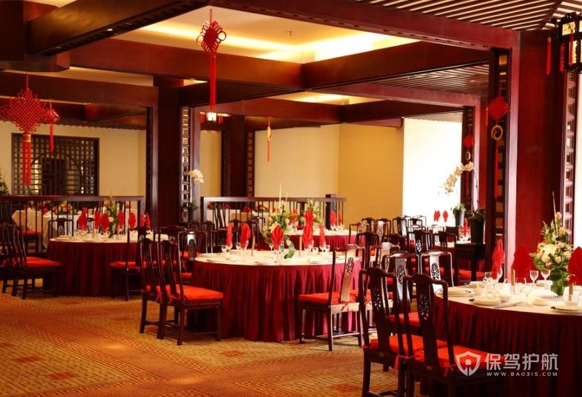 仿古中式餐厅装修效果图
