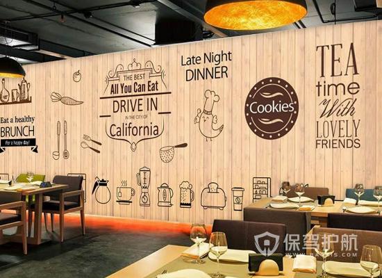 简约风格咖啡店墙面装饰效果图