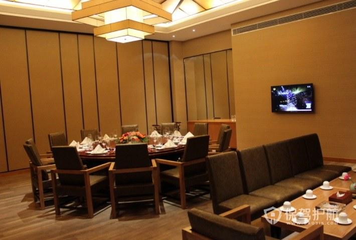 经典中式餐厅装修效果图