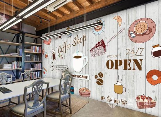 欧式风格咖啡店墙面装饰效果图