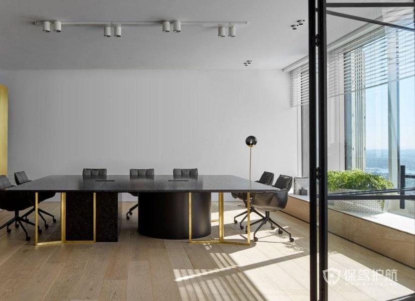 轻奢风办公会议室装修效果图