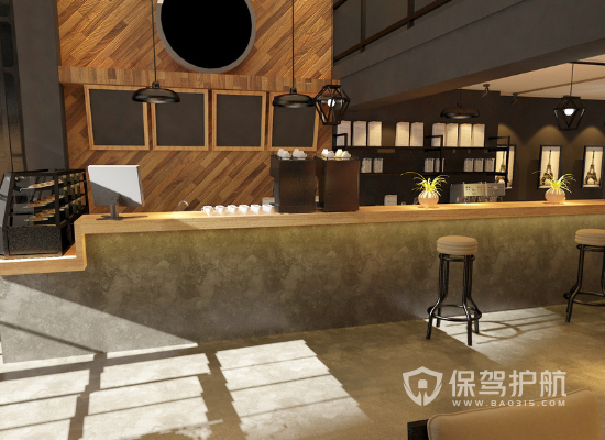 休闲咖啡厅装修效果图