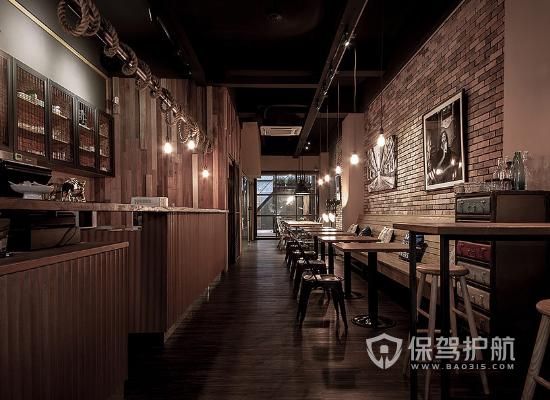 文艺风格咖啡厅装修效果图