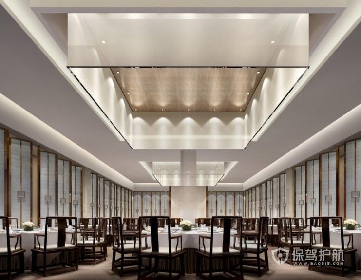 中式高雅宴会餐厅装修效果图