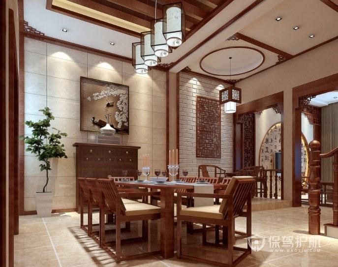中式典雅私人餐厅装修效果图