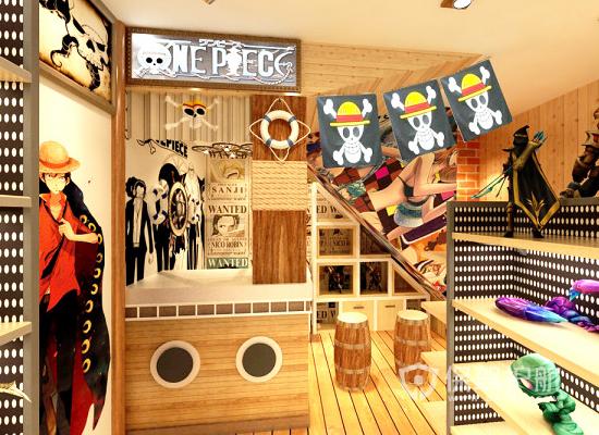 日式卡通风格奶茶店装修效果图