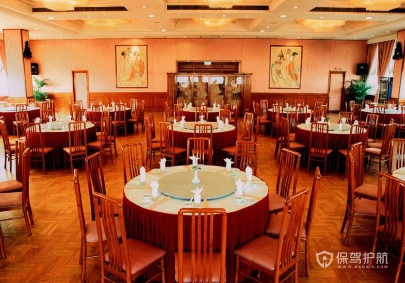 中式古典大餐厅装修效果图