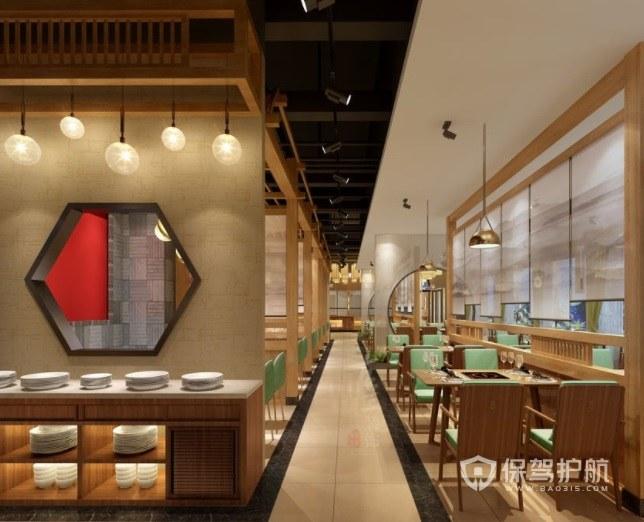 日式森系小清新餐厅装修效果图