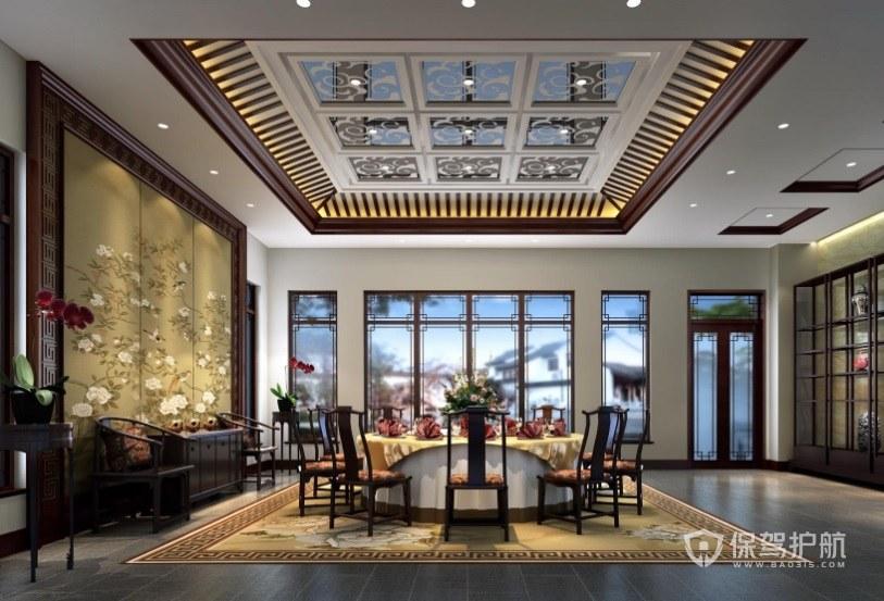 豪华中式餐厅包厢装修效果图