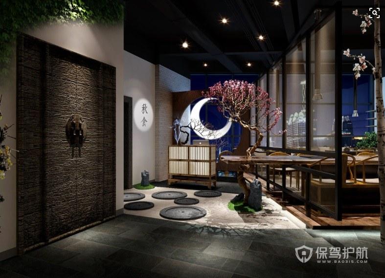 中式仿古风田园餐厅装修效果图