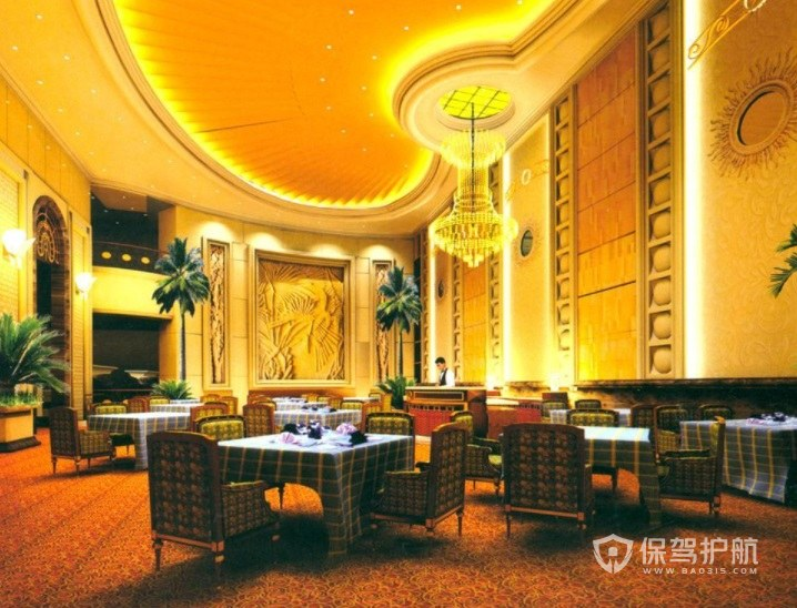 东南亚奢华餐厅装修效果图