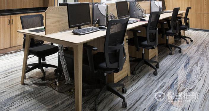 后现代办公室办公桌装修效果图