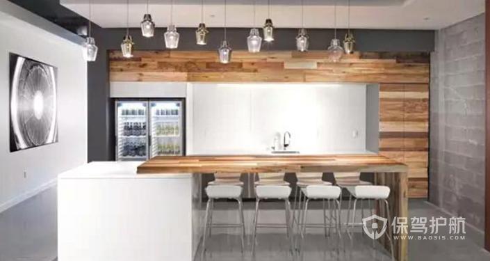现代办公室茶水间装修效果图
