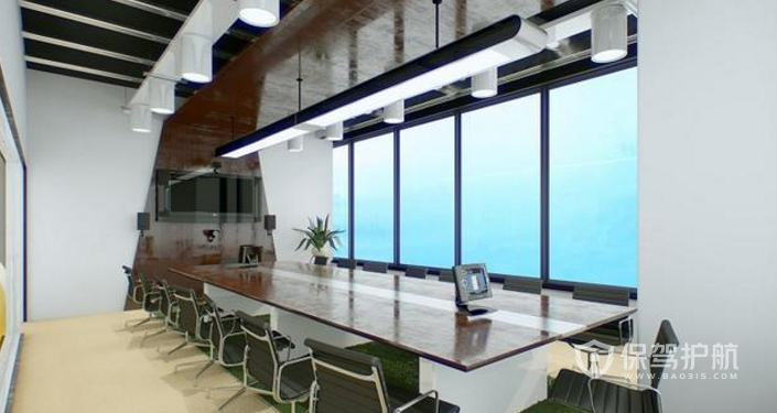 现代风会议室装修效果图