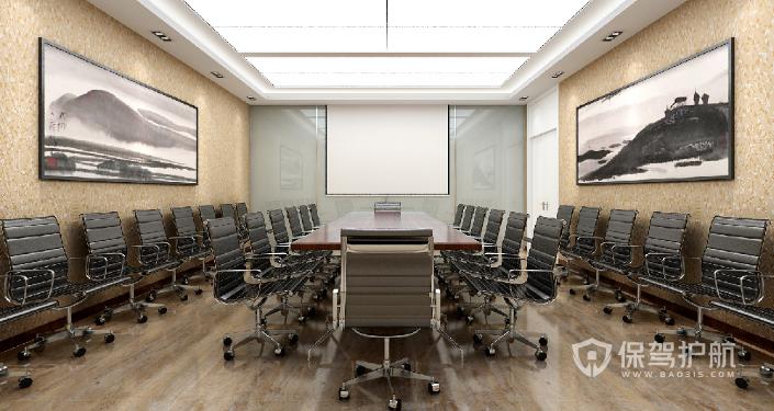 现代中型办公室装修效果图