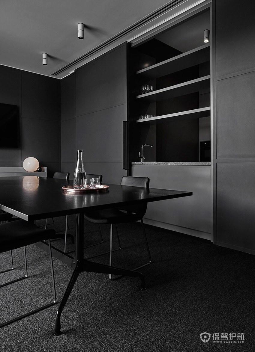黑色调领导办公室装修效果图