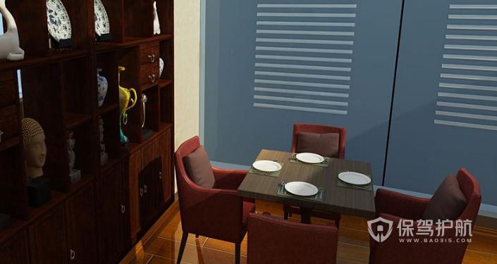 中式办公室休息区装修效果图