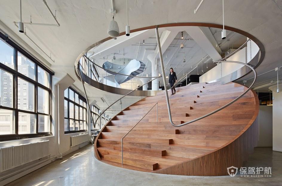 创意办公室楼梯装修效果图