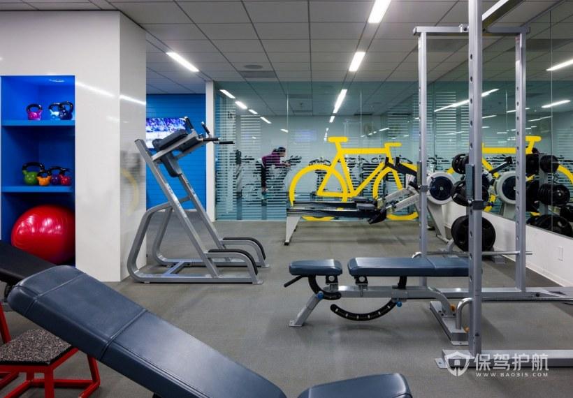 高档办公室健身活动室装修效果图