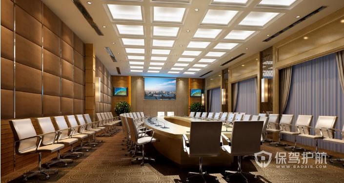 办公室会议大厅装修效果图