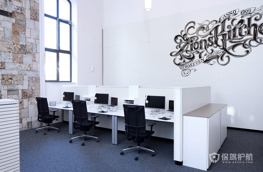 简约格调办公室办公区装修效果图