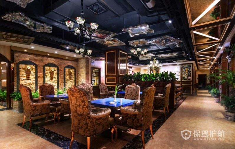 奢华复古欧式餐厅装修效果图