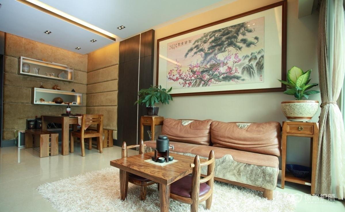 中式客厅挂画图片-保驾护航装修网