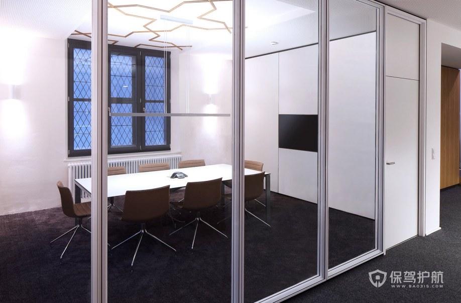 简约混搭办公会议室装修效果图