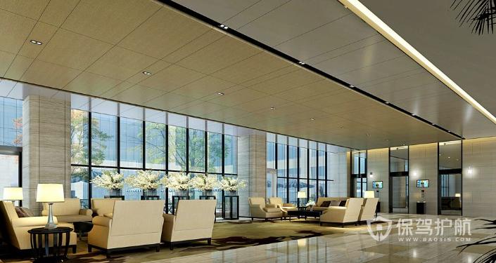 现代办公室大厅装修效果图