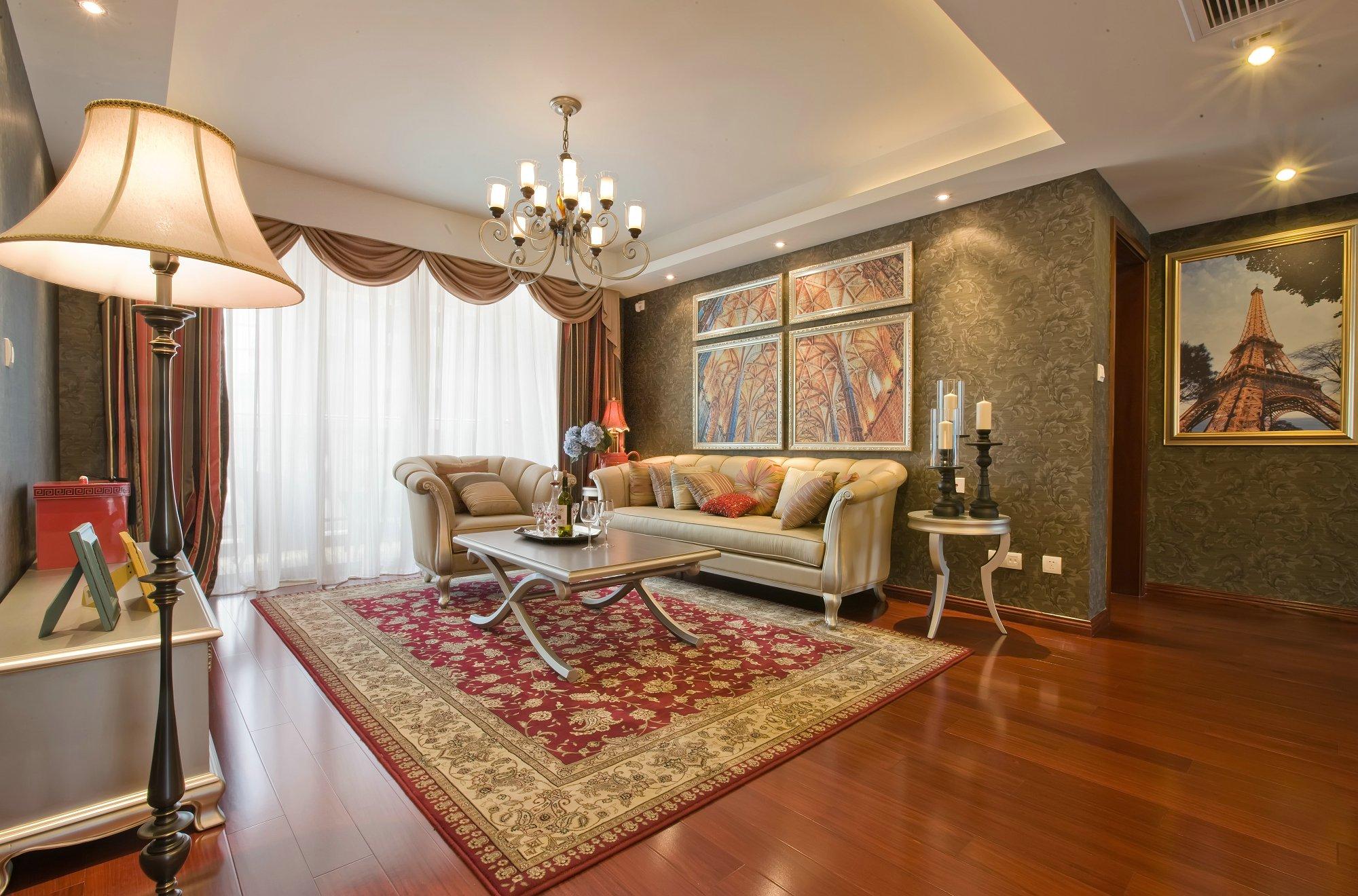 中华名园140平三居室装修