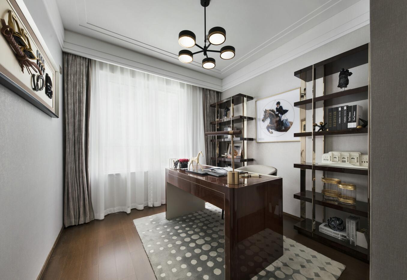 桥福园现代简约风格二居室装修效果图