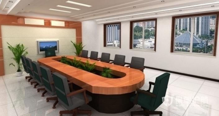 个性会议室办公桌装修效果图