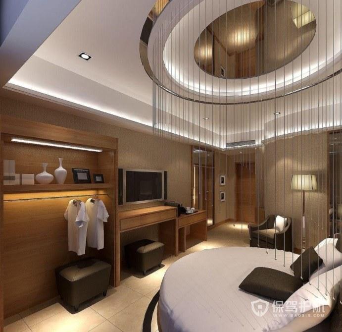 现代轻奢酒店房间装修效果图