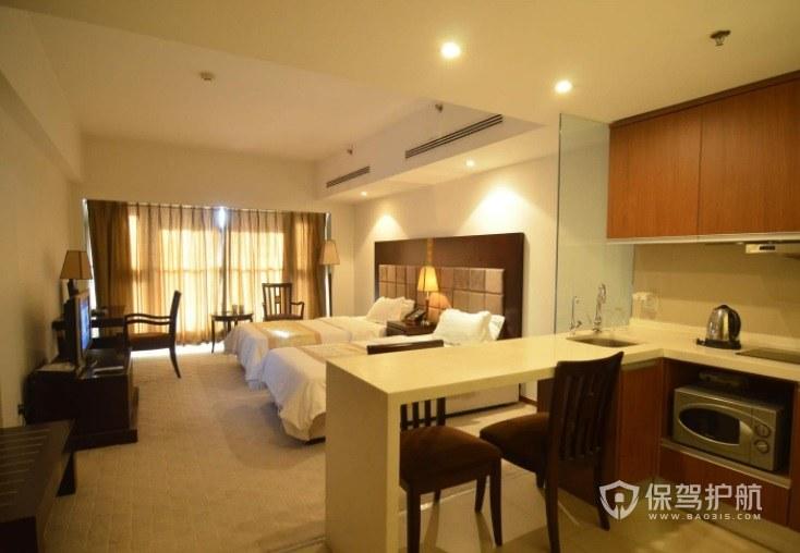 现代简约温馨酒店房间装修效果图