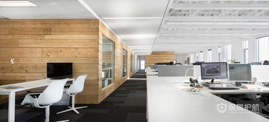 开放式办公大厅装修效果图