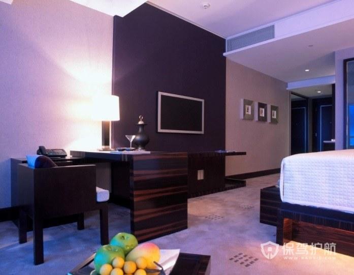 现代商务酒店房间装修效果图