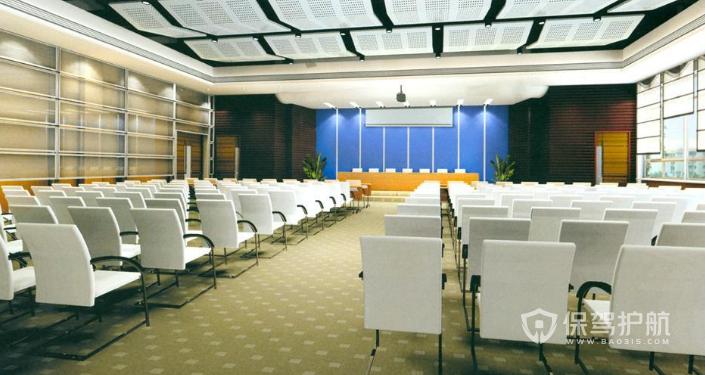大型多功能会议室装修效果图