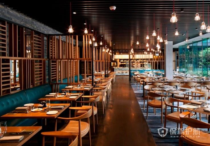 中式复古简约餐厅装修效果图