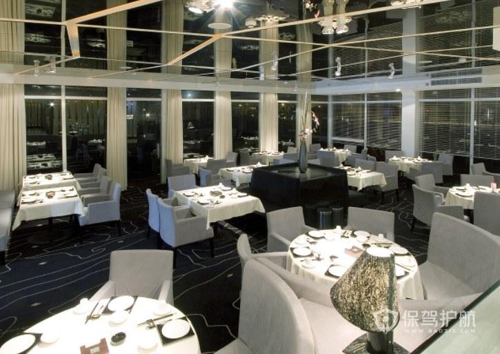 现代玻璃天花板餐厅装修效果图
