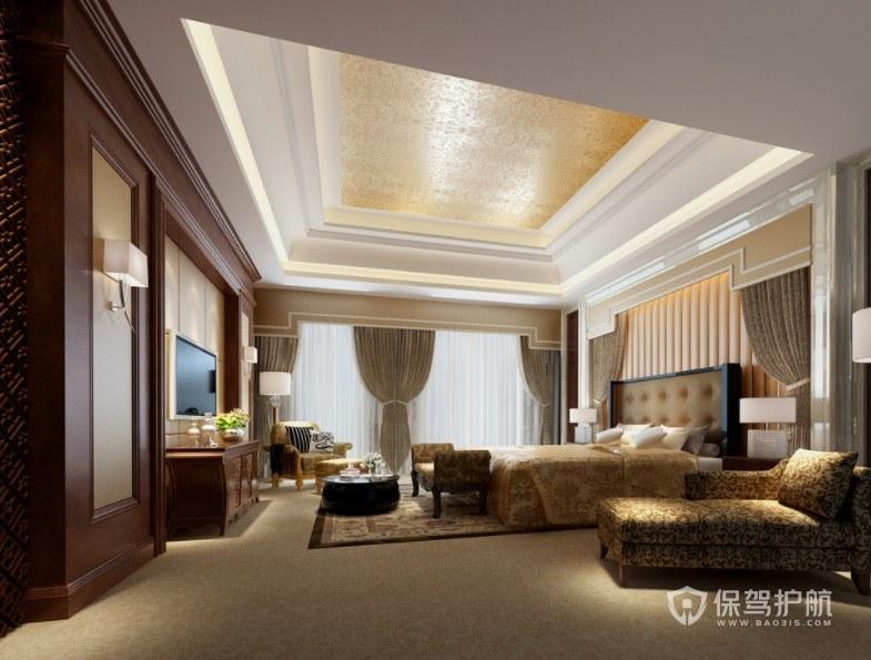 现代中式酒店套房装修效果图