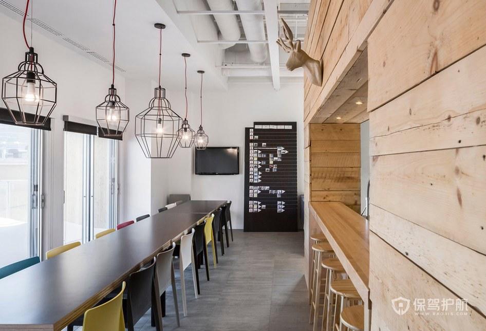 创意风格办公室茶水区装修效果图